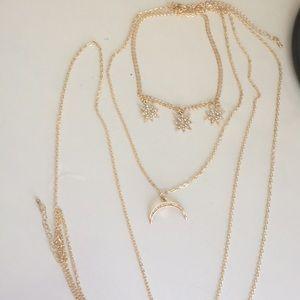 Crescent moon body jewelry